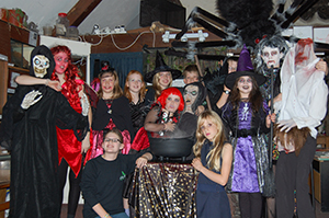 Halloween party at Silent World